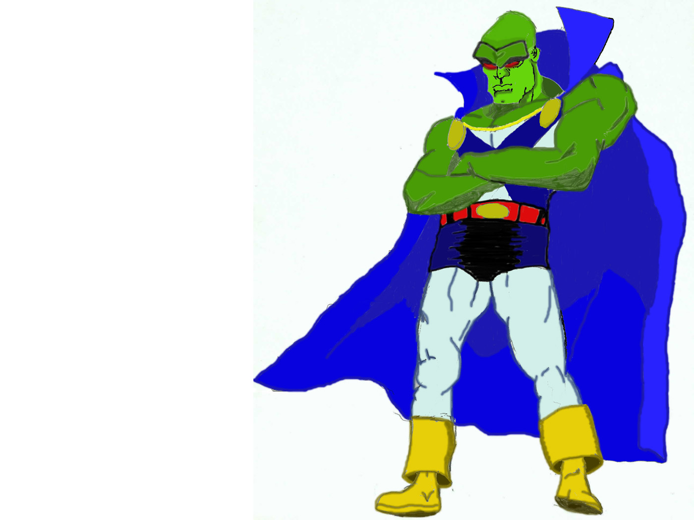 Martian Manhunter, as conceptualized for DC/Marvel:  The Merging