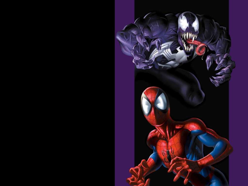 Ultimate Spider-Man and Venom, from the cover of Ultimate Spider-Man #35