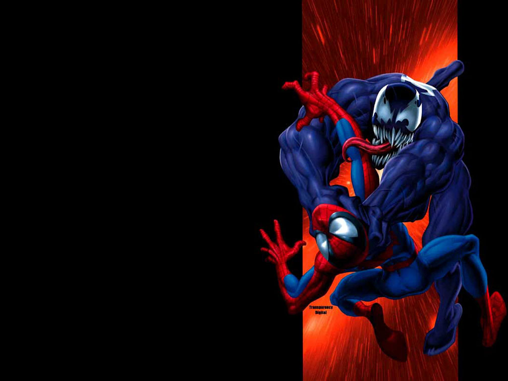 Ultimate Spider-Man and Venom, from the cover of Ultimate Spider-Man #36
